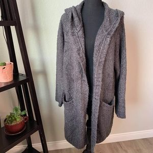 Torrid heavy hooded long length cardigan